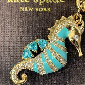 Kate Spade Seahorse Crystal Keychain Rare Fob